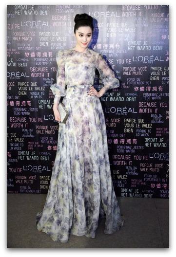 Fan Bingbing in a  Valentino 2013 Resort Gown
