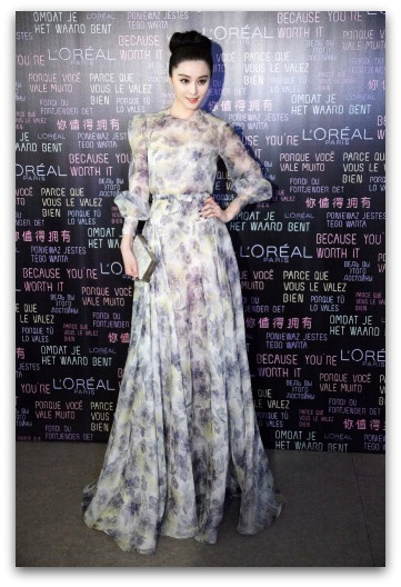 Fan Bingbing in a  Valentino 2013 Resort Gown