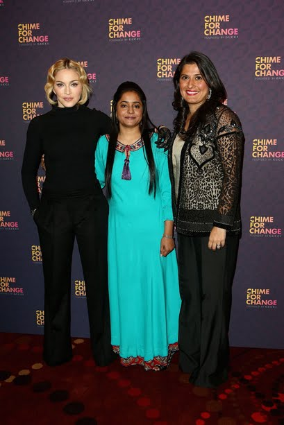 Madonna, Humaira Bachal and Sharmeen Obaid- Chinoy
