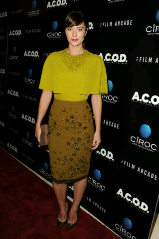 Actress Mary Elizabeth Winstead in Andrew GN at the A.C.O.D(Adult Children of Divorce) Premier.Love!