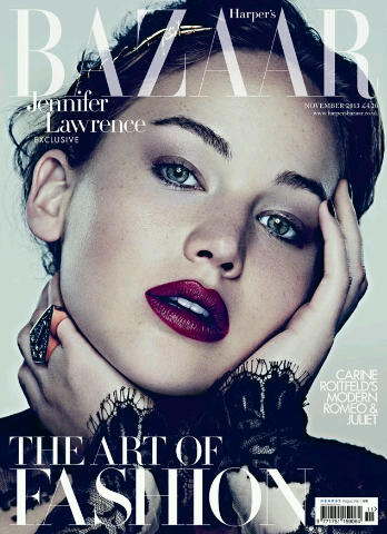 Jennifer Lawrence Covers Harper's Bazaar