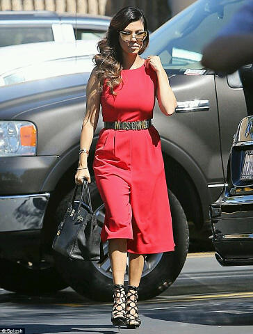 I really liked Kourtney Kardashian's Red Dress with the Moschino belt  and her Tom ford shoes.