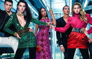 kendall jenner gigi hadid and jourdan dunn by mario sorrenti for balmain print campaign